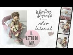 Le Pigottine di Vanda - Il letto di Mia - YouTube Doll Furniture, Place Cards, Place Card Holders, Embroidery, Dolls, Diy, Videos, Youtube, Craft Flowers