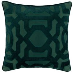 """Modello Pillow 22"""" (£55) ❤ liked on Polyvore featuring home, home decor, throw pillows, pillow, square throw pillows, patterned throw pillows, eggplant throw pillows and graphic throw pillows"""