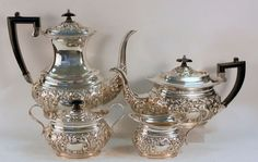 Currently at the #Catawiki auctions: Antique Victorian Silver Plate Tea / Coffee Service Set, By William Adams, Bi...