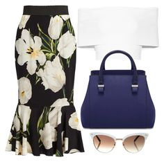 White & Blue by carolineas on Polyvore featuring polyvore, fashion, style, Rosetta Getty, Dolce&Gabbana, Gucci and clothing