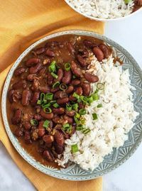 This super easy Vegetarian Red Beans and Rice is incredibly satisfying, healthy and CHEAP to make. Gluten free, vegan friendly, deeply flavorful!