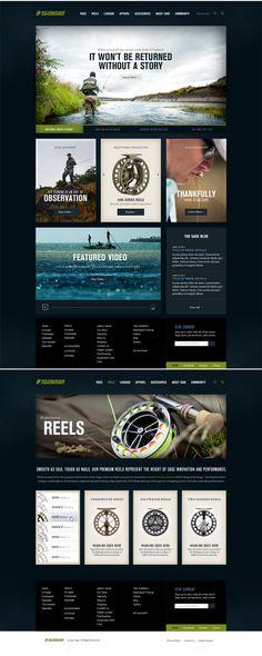 Exigo - Web Design and Illustration by Tractorbeam App Design, Design Art, Graphic Design, Site Design, Fly Fishing Tips, Fishing Basics, Logos Retro, Apps, Ui Web