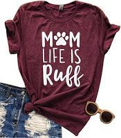 17+ Funny and Cute Dog Mom Shirts. #dogs #dogmom #dogmomshirts