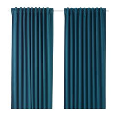 IKEA - MAJGULL, Block-out curtains, 1 pair, curtain rod or track, create pleats using RIKTIG curtain hooks.You can hang the curtains on a curtain rod through the hidden tabs or with rings and hooks.
