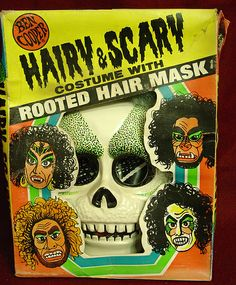 Ben Cooper Hairy Scary Skull Halloween Costume