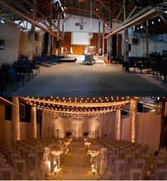 Transforming a gym into a wonderful reception venue wedding ideas draping curtains event space ugly makeover venue nashville wedding junglespirit Images
