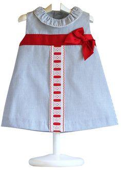 Vestido Bebé Marinero YOEDU - demelocoton.com