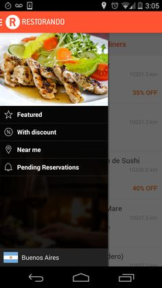 Restorando App - #buenosaires #food #apps #restorando #searching #booking