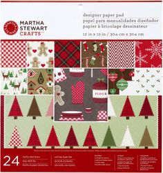 Amazon.com: Martha Stewart Crafts Cottage Christmas Designer Paper Pad: Arts, Crafts & Sewing