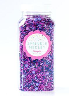 Violet Dreams Sprinkle Medley, Purple Sprinkles, Purple Sprinkle Mix, Lavender Sprinkles, Sugar Beads, Bulk Sprinkles -- JUMBO (16 oz)