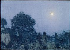 """""""Christ and disciples on the road to Bethany,"""" Henry Ossawa Tanner, 1902-1903, oil on canvas, 26 x 38"""", Musée d'Orsay."""