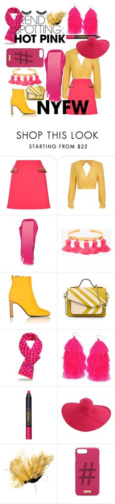 """""""Go pink"""" by rubyolsonvetter ❤ liked on Polyvore featuring Mary Katrantzou, Bobbi Brown Cosmetics, Marte Frisnes, rag & bone, Humble Chic, Lipstick Queen, San Diego Hat Co., Henri Bendel, Morphe and contestentry"""