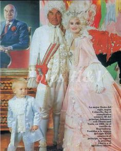 For Prince Johannes' 60th birthday ball in 1986, both he and Princess Gloria donned costumes that wouldn't have been out of place during the time of Queen Marie Antoinette, including the pearl tiara