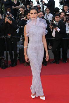 Sara Sampaio in Armani Privé at the 120 Beats Per Minute premiere, Cannes 2017