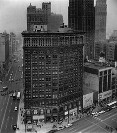 """The Majestic Building was Detroit's fourth skyscraper and was designed by renowned American architect Daniel H. Burnham. Here, you can see familiar landmarks such as the Book-Cadillac Hotel, David Stott Building and Book Tower. This Beaux Arts beauty at Michigan and Woodward avenues stood from 1896 until 1961 and is one of 15 lost landmarks chronicled in """"Forgotten Landmarks of Detroit"""" by Dan Austin (History Press, $22.99, 263 pages)."""