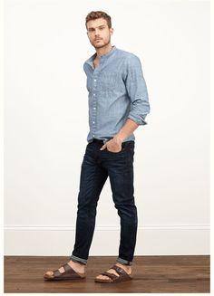 Birkenstock Men, Birkenstock Outfit, Fashion Milano, Herren Outfit, Stylish Mens Outfits, Moda Plus Size, Denim Jeans Men, Denim Outfit, Denim Fashion
