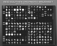 Photoshop brushes Please visit this video to learn the setup: youtu.be/iipUPpCFGYg These brushes are for Photoshop, and the above video will explain the setup and format of the brushes, which need to display as larg. Texture Photoshop, Free Photoshop, Photoshop Brushes, Photoshop Tutorial, Gimp Tutorial, Watercolor Splatter, Ink Splatter, Ps Tutorials, Concept Art Tutorial