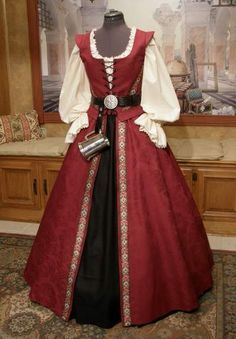 RENAISSANCE GOWN Pirate Dress Corset Bodice by fairefinery on Etsy