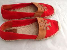 Women's Shoes Flat Tory Burch Red Size 7M