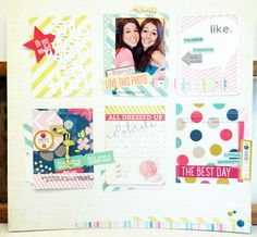 Product Spotlight | Now and Then Journal Cards - using PL cards on a layout
