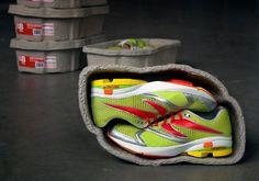 省スペースかつエコな次世代のスニーカー包装 - GIGAZINE
