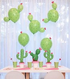 Kaktus Luftballons Ideen - Dekotrend für den Sommer Need a unique idea for Valentine's Day? How about a Cactus Party for kids! Check out the Cactus Balloon DIY Fiesta Theme Party, Festa Party, Fiesta Games, Anniversaire Cow-boy, Llama Birthday, 2nd Birthday, Birthday Ideas, Mexican Party, Party Time