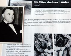 Worldwide search. A document of the Simon Wiesenthal Center shows wanted Nazi criminals. On the photo on the left is seen Aribert Heim. (January 26th, 2005)