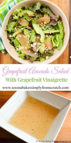 Grapefruit Avocado Salad With Grapefruit Vinaigrette