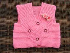 Ravelry: Charity Pink Baby Vest pattern by maybebaby designs Crochet For Boys, Knitting For Kids, Baby Knitting Patterns, Baby Patterns, Crochet Baby, Charity Knitting, Shawl Patterns, Knitting Wool, Knitted Baby