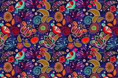 2 Seamless patterns with birds by Sunny_Lion on Creative Market