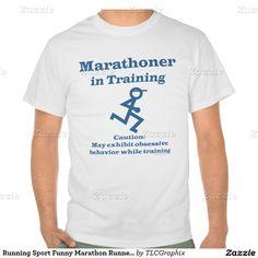 Running Sport Funny Marathon Runner In Training