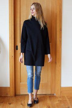 c1d233c92f Edie Turtleneck Dress - Black Ponte