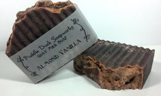 Almond Vanilla Goat Milk Soap with Olive Oil, Shea Butter, and Rice Bran Oil. By PuddleDuckSoapworks