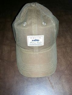 7d909768b4a Orvis Waxed Cotton Baseball Hat Cap Tan Sandstone  fashion  clothing  shoes   accessories