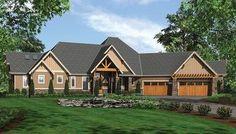 Plan 69407AM: Award-Winning Craftsman Lodge