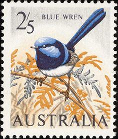 Sello del pájaro australiano