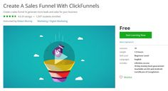 Create A Sales Funnel With ClickFunnels (Free) | Coupon for Course