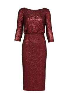 Rent Merlot Sequin Sheath by Badgley Mischka for $95 only at Rent the Runway.