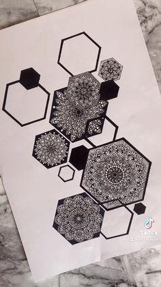 Mandala Art Therapy, Mandala Art Lesson, Mandala Artwork, Mandala Painting, Easy Mandala Drawing, Doodle Art Drawing, Pencil Art Drawings, Art Painting Gallery, Dot Art Painting