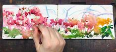 Orchid Greenhouse watercolor YouTube Painting Tutorial 3