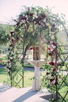 Floral Greenery Wedding Ceremony Arch