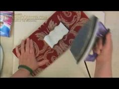 How to clean your iron - this works wonderfully - by Sharon Schamber  <3 her!!!!