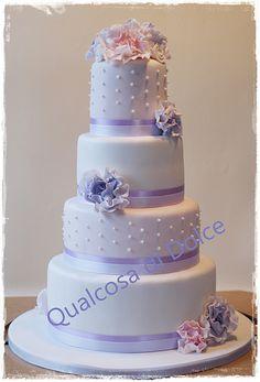 frou frou wedding cake