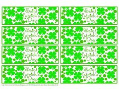 printable napkin rings st. patrick's day - Google Search