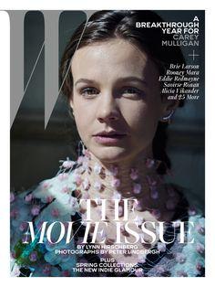 Carey Mulligan by Peter Lindbergh for W Magazine February 2016 cover - Prada Spring 2016