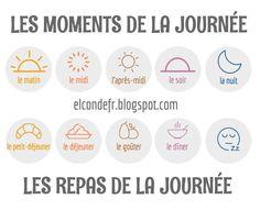 El Conde. fr: Les moments et les repas de la journée
