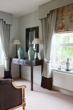 One of the first things you do when you remodel or move into a new home is change the curtains. After all, new window treatments easily, quickly, and inexpensively transform a room. - Check Out THE PIC for Many Ideas for Living Room Window Treatments. Bedroom Windows, Living Room Windows, Bedroom Alcove, Living Rooms, Curtain Styles, Curtain Designs, Curtains With Blinds, Blinds For Windows, Roman Blinds
