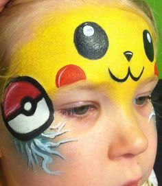 pikachu face painting - Google Search
