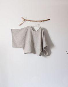 Linen Top : Handmade