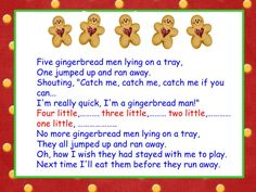 """Five Gingerbread Men"" Song (free)"